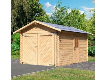 Karibu KARIBU Einzel-Garage »Stephan«, BxT: 338x489 cm, Einfahrtshöhe: 193 cm, natur, natur