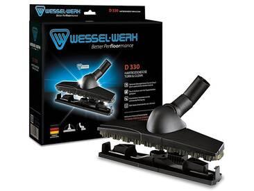 Wessel-Werk D 330 Parkettdüse mit Naturhaarborsten, Universaladapter, schwarz, schwarz