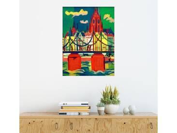Posterlounge Wandbild - Ernst Ludwig Kirchner »Der Frankfurter Dom«, bunt, Holzbild, 30 x 40 cm, bunt