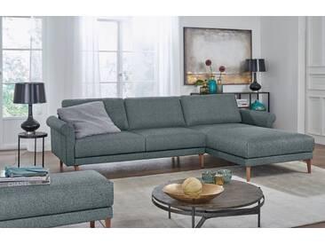 Hülsta Sofa hülsta sofa Polsterecke »hs.450« im modernen Landhausstil, Breite 262 cm, Recamiere rechts, wasserblau/steingrau
