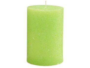 BUTLERS RUSTIC »Stumpenkerze Höhe 15 cm«, grün, hellgruen, hellgruen