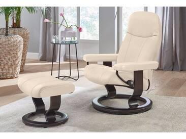 Stressless® Set: Relaxsessel mit Hocker »Garda« mit Classic Base, Größe S, mit Schlaffunktion, natur, Fuß wengefarben, cream