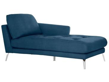 W.SCHILLIG Chaiselongue »softy« mit Heftung im Sitz, blau, Armlehne rechts, blue