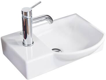 FACKELMANN Waschbecken »Gäste-WC«, Breite 45 cm, für Gäste-WC, Keramik, weiß, weiß