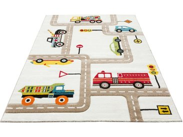 Lüttenhütt Kinderteppich »Strassen«, rechteckig, Höhe 13 mm, handgearbeiteter Konturenschnitt