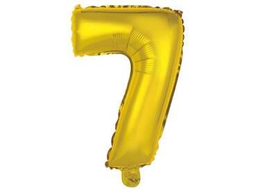 BUTLERS UPPER CLASS »Folienballon 7«, gold, Breite 30 x Tiefe 42 x