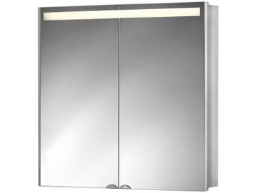 jokey Jokey Spiegelschrank »Aluwave« Breite 66,5 cm, mit LED-Beleuchtung, silberfarben, aluminiumfarben