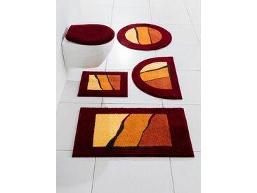 Grund GRUND Badgarnitur mit modernen Streifen, rot, rot
