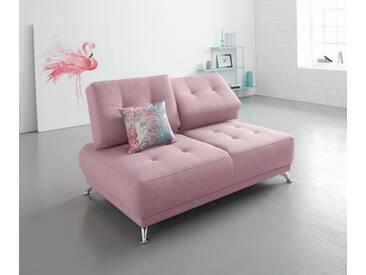 Bruno Banani bruno banani 2-Sitzer Sofa mit Steppung, orange, flamingo
