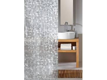 Kleine Wolke KLEINE WOLKE Duschvorhang »Cristal«, 180 cm Breite, weiß, transparent