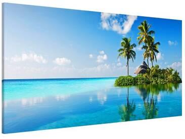 Bilderwelten Magnettafel Quer 37cm x 78cm »Tropisches Paradies«, bunt, 37x78 cm, Farbig