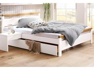 Home affaire Bett »Capre«, in 4 verschiedenen Liegeflächen und 2 Farbkombinationen, weiß, eichefarben