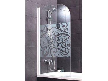 Schulte SCHULTE Badewannenaufsatz »Floral«, weiß, ohne Antikalk-Versiegelung, nur links montierbar, weiß