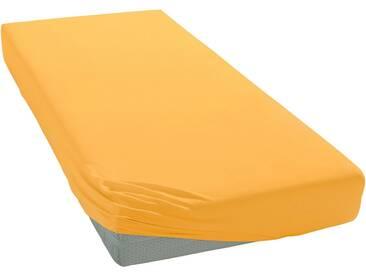 Janine Spannbettlaken »Elastic-Jersey«, auch für Wasserbetten, gelb, Jersey-Elasthan, sonnengelb