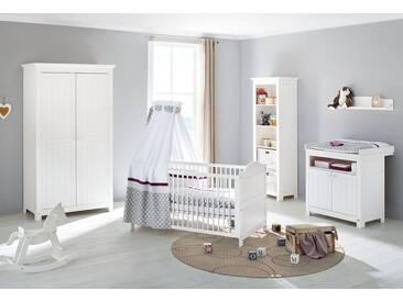 Pinolino® Pinolino Babyzimmer Set (3-tlg) Kinderzimmer »Nina«, weiß, weiß lasiert