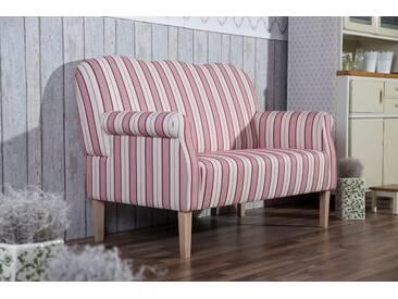 Max Winzer® 2-Sitzer »Juuma«, mit Federkern, im Retrodesign, rot, 147 cm, rot gestreift