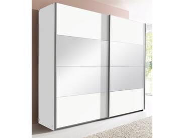 rauch PACK´S Schwebetürenschrank »Quadra«, mit Spiegel, weiß, Breite 181 cm, 2-türig, ohne Aufbauservice, ohne Aufbauservice, Höhe 210 cm