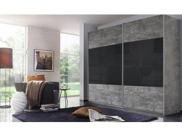 rauch PACK´S Schwebetürenschrank »Quadra«, grau, Breite 271 cm, ohne Aufbauservice, ohne Aufbauservice, Höhe 210 cm, betonfarben/ Basaltglas