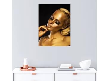 Posterlounge Wandbild »Black and Gold«, schwarz, Forex, 60 x 80 cm, schwarz