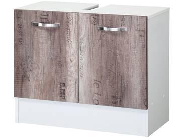 Kesper Waschbeckenunterschrank »Como«, Breite 65 cm, natur, Weinkisten Optik