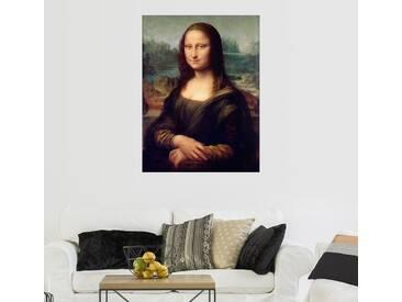 Posterlounge Wandbild - Leonardo da Vinci »Mona Lisa«, schwarz, Forex, 30 x 40 cm, schwarz