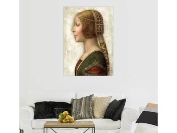 Posterlounge Wandbild - Leonardo da Vinci »Bella Principessa«, natur, Holzbild, 50 x 70 cm, naturfarben