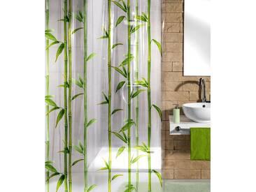 Kleine Wolke KLEINE WOLKE Duschvorhang »Bamboo«, Breite 180 cm, grün, grün