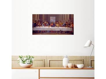 Posterlounge Wandbild - Nicolas Poussin »Das letzte Abendmahl. Kopie nach Leonardo da ...«, bunt, Forex, 120 x 60 cm, bunt
