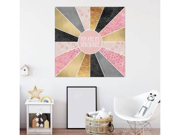Posterlounge Wandbild - Elisabeth Fredriksson »You Are My Sunshine«, bunt, Holzbild, 100 x 100 cm, bunt