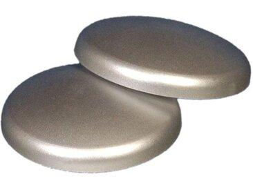 Liedeco Dekomagnet, Gardinen, (Packung, 2-St), für metallische Flächen, silberfarben, chromfarben