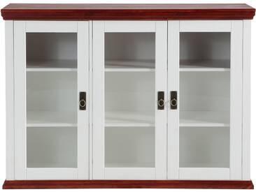 Home affaire , Sideboard (3-trg.), weiß, mit Glastüren, weiß/kirschbfb.