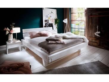 Premium Collection By Home Affaire Bett »Ultima« Aus Massivem Holz In  Balken Optik