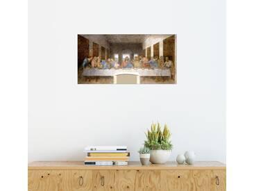Posterlounge Wandbild - Leonardo da Vinci »Das letzte Abendmahl«, natur, Forex, 40 x 20 cm, naturfarben