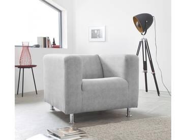 INOSIGN Sessel »Tuba« in moderner, kubischer Form, silberfarben, silber