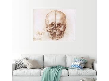 Posterlounge Wandbild - Leonardo da Vinci »Schädel«, weiß, Alu-Dibond, 40 x 30 cm, weiß