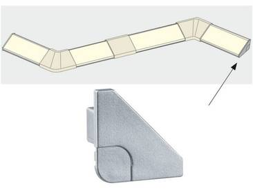 Paulmann LED-Streifen »Delta Profil Cap 2er Pack Alu matt, Kunststoff«, silberfarben, silberfarben