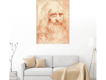 Posterlounge Wandbild - Leonardo da Vinci »Leonardo Da Vinci«, natur, Poster, 100 x 130 cm, naturfarben