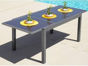 MERXX Gartentisch »Amalfi«, Aluminium, ausziehbar, grau, 90 cm x 140/200 cm, anthrazit