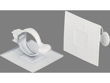 Good Life Dekoklammer »Quadrat«, Vorhänge, (1-tlg), für Stoffe und Vorhänge, weiß, weiß