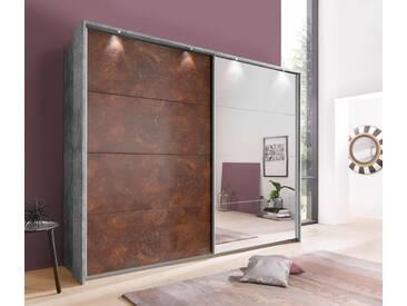 rauch PACK´S Schwebetürenschrank »Meppen«, grau, Breite 226 cm, 2-türig, betonfarben