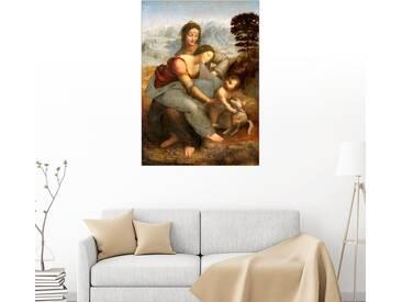 Posterlounge Wandbild - Leonardo da Vinci »Jungfrau und Kind mit St. Anne«, bunt, Forex, 70 x 100 cm, bunt