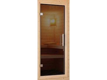 Karibu KARIBU Saunatür , für 38/40 mm Sauna, BxH: 64x173 cm, grau, 173 cm x 64 cm, grau