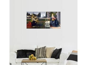 Posterlounge Wandbild - Leonardo da Vinci »Die Verkündigung Mariae«, bunt, Holzbild, 160 x 80 cm, bunt