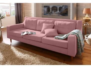 Home affaire 3-Sitzer »Virginia«, mit feiner Steppung im Rücken, in 3 Bezugsqualitäten, rosa, rosé