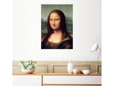 Posterlounge Wandbild - Leonardo da Vinci »Mona Lisa, Detail«, schwarz, Leinwandbild, 70 x 100 cm, schwarz