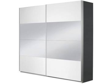 rauch PACK´S Schwebetürenschrank »Imposa«, grau, Breite 181 cm, Höhe 210 cm, Höhe 210 cm, mit Spiegel, graumetallic/weiß Hochglanz