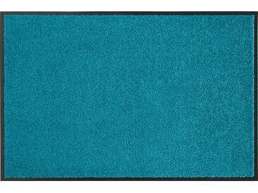 HANSE Home Fußmatte »Wash & Clean«, rechteckig, Höhe 7 mm, waschbar, blau, 7 mm, petrol