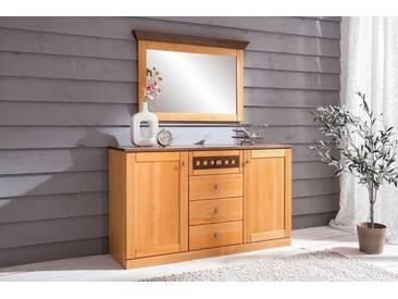Premium collection by Home affaire Sideboard »Romantika« mit Softclose-Funktion, Breite 149 cm, gelb, Bernstein/Nussbaum