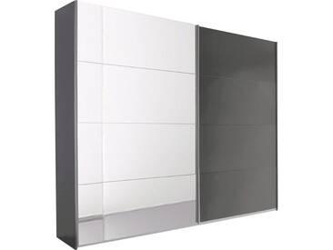 rauch PACK´S Schwebetürenschrank »Quadra«, mit Spiegel, grau, Breite 271 cm, 2-türig, ohne Aufbauservice, ohne Aufbauservice, Höhe 210 cm