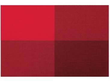 Contento Platzset »Zarah« (Set 4-tlg), rot, Vinyl, rot